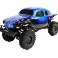 ALEKO RCCAR14-UNB 1 by 10 Scale Rock Crawler Off-Road 4WD Electric Powered RC Car, Blue - 1