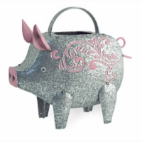 Boston International Pig Watering Can Outdoor Decor - Silver