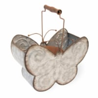 Boston International JHC19096 Butterfly Metal Bucket Planter