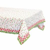 Boston International URB19137 52 x 52 in. Strawberry Season Table Cloth - 1