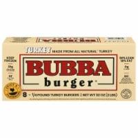 Bubba Burger Gluten Free Turkey Burgers 8 Count