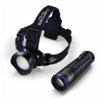 Police Security Bright Bundle Breakout Headlamp & Barricade Flashlight - 2 pc