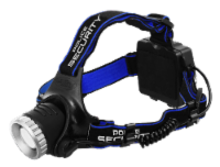Police Security Ultra Bright Headlamp - Black/Blue - 1 ct