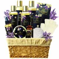 Lavender Chamomile Natural Spa Gift Basket - 1