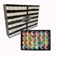 Bath Bomb Gift Set.24 Individually Wrapped Bath Bombs in Gorgeous Mesh Bags Party Favors - 1