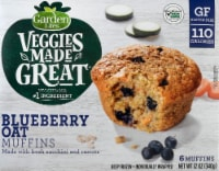 Garden Lites Veggies Made Great Blueberry Oat Muffins 6 Count