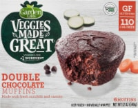 Garden Lites Veggies Made Great Double Chocolate Muffins 6 Count