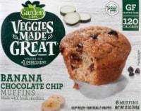 Garden Lites Veggie Made Great Banana Chocolate Chip Zucchini Muffins 6 Count