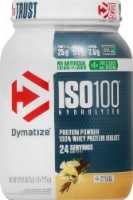 Dymatize ISO100 Hydrolyzed Natural Vanilla 100% Whey Protein Isolate Powder