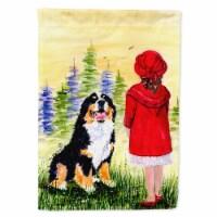 Carolines Treasures  SS8531GF Little Girl with her Bernese Mountain Dog Flag Gar - Garden Size