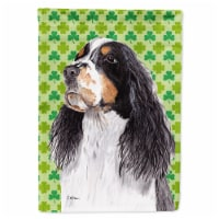 Carolines Treasures  SC9281-FLAG-PARENT Springer Spaniel St. Patrick's Day Shamr