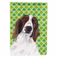Welsh Springer Spaniel St. Patrick's Day Shamrock Flag Garden