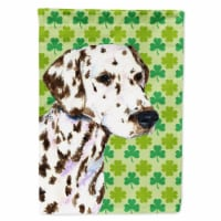 Carolines Treasures  SS4400-FLAG-PARENT Dalmatian St. Patrick's Day Shamrock Por