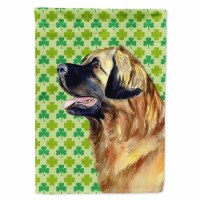 Carolines Treasures  LH9213-FLAG-PARENT Leonberger St. Patrick's Day Shamrock Po