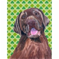 Carolines Treasures  SC9304-FLAG-PARENT Labrador Chocolate St. Patrick's Day Sha