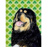 Carolines Treasures  SS4443-FLAG-PARENT Tibetan Mastiff St. Patrick's Day Shamro