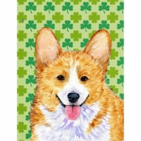 Carolines Treasures  SS4417-FLAG-PARENT Corgi St. Patrick's Day Shamrock Portrai