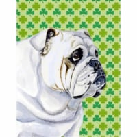 Carolines Treasures  LH9184-FLAG-PARENT Bulldog English St. Patrick's Day Shamro
