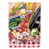 Carolines Treasures  8825-1CHF Gumbo and Potato Salad  Flag Canvas House Size 88 - House Size