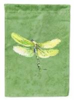Carolines Treasures  8864CHF Dragonfly on Avacado Flag Canvas House Size - House Size