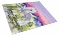 Carolines Treasures  SS8326LCB Chinese Crested Glass Cutting Board Large - 12Hx15W