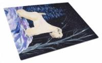 Starry Night Wheaten Terrier Soft Coated Glass Cutting Board Large - 12Hx15W