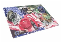 Carolines Treasures  1012LCB Barq's and Armed Forces Glass Cutting Board Large