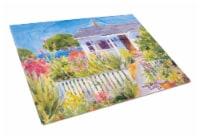 Carolines Treasures  6034LCB Seaside Beach Cottage  Glass Cutting Board Large