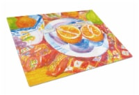 Florida Oranges Sliced for breakfast  Glass Cutting Board Large - 12Hx15W