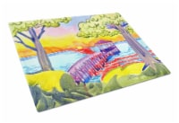 Carolines Treasures  6060LCB Dock at the pier Glass Cutting Board Large