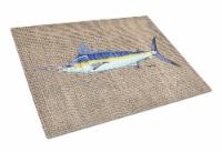 Carolines Treasures  8773LCB Fish - Marlin Glass Cutting Board Large - 12Hx15W