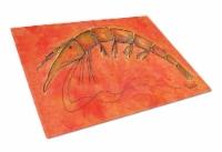 Carolines Treasures  RDR2012LCB Shrimp Glass Cutting Board Large - 12Hx15W