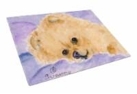 Carolines Treasures  SS8834LCB Pomeranian Glass Cutting Board Large
