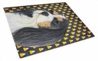 Cavalier Spaniel Tricolor Candy Corn Halloween Glass Cutting Board Large - 12Hx15W