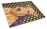 Airedale Candy Corn Halloween Portrait Glass Cutting Board Large - 12Hx15W