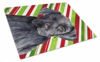 Labrador Candy Cane Holiday Christmas Glass Cutting Board Large