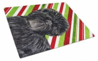 Affenpinscher Candy Cane Holiday Christmas Glass Cutting Board Large - 12Hx15W