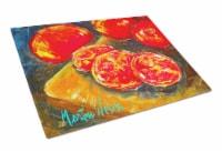 Carolines Treasures  MW1099LCB Vegetables - Tomatoes Slice It Up Glass Cutting B - 12Hx15W