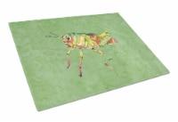 Carolines Treasures  8848LCB Grasshopper on Avacado Glass Cutting Board Large - 12Hx15W