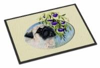 Carolines Treasures  SS8064MAT Pug Indoor Outdoor Mat 18x27 Doormat