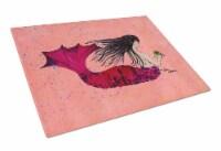 Carolines Treasures  8338LCB Mermaid  Glass Cutting Board Large - 12Hx15W