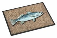 Carolines Treasures  8737MAT Fish Speckled Trout Indoor or Outdoor Mat 18x27 Doo - 18Hx27W