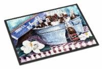 Carolines Treasures  1003MAT Barq's and old washtub Indoor or Outdoor Mat 18x27 - 18Hx27W