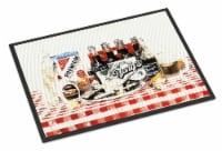 Carolines Treasures  1004MAT Barq's oysters Indoor or Outdoor Mat 18x27 Doormat - 18Hx27W