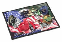 Carolines Treasures  1012MAT Barq's and Armed Forces Indoor or Outdoor Mat 18x27 - 18Hx27W