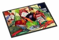 Carolines Treasures  1020MAT Spices and Crawfish Indoor or Outdoor Mat 18x27 Doo