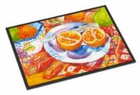 Florida Oranges Sliced for breakfast  Indoor or Outdoor Mat 18x27 Doormat - 18Hx27W