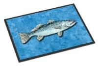 Carolines Treasures  8770MAT Fish - Trout Indoor or Outdoor Mat 18x27 Doormat - 18Hx27W