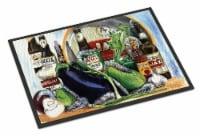 Eggplant and New Orleans Beers Indoor or Outdoor Mat 18x27 Doormat