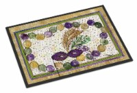 Carolines Treasures  8059MAT Mardi Gras Beads  Indoor or Outdoor Mat 18x27 Doorm - 18Hx27W